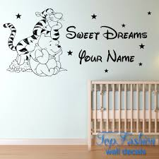 popular custom wall decal winnie the pooh buy cheap custom wall tigger winnie the pooh children bedroom decoration wall sticker custom name wall decals 3 sizes