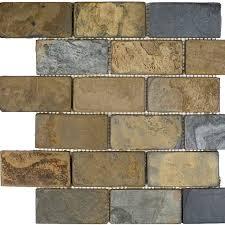 Quartzite Slate Subway Backsplash Tile by Epoch 2