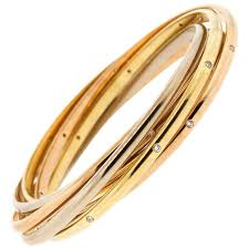 cartier rings gold images Cartier tri color 18 karat gold diamond rolling ring bangle keyamour jpg