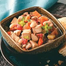 slow cooked turkey white bean soup recipe taste of home
