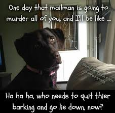 Quit Lying Meme - one day that mailman is going to murder all of you and i ll be like