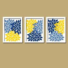 blue and yellow bathroom ideas blue yellow wall bedroom canvas or prints bathroom artwork