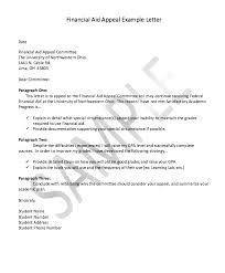 financial appeal letter sample resumedoc
