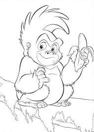 coloring page of gorilla gorilla little terk tarzans gorilla friend coloring page