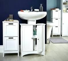 under the sink bathroom organizer pedestal sink storage cabinet pedestal sink storage storage