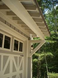 Covered Garage by Shed Roof Detail On Five Forks Stock Plan Designed By Mitch Ginn