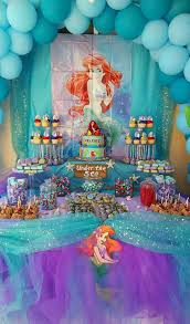 Mermaid Decorations For Party Little Mermaid Party Under The Sea Candy Table Caramel Apples
