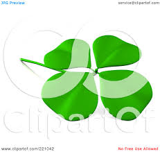 four leaf clover black and white clipart
