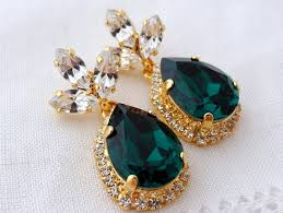 emerald green earrings emerald green chandelier earrings drop earrings bridal earrings