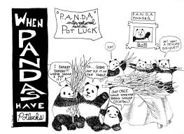 cocktail party cartoon as the pandas turn the history of the institute for
