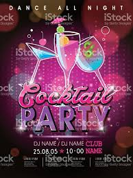 fantastic cocktail party poster design stock vector art 484640578