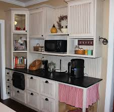 Kitchen Cabinet Garage Door Custom Bead Board Kitchen With Angled Corner Cabinet With Glass