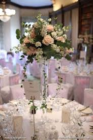 Tall Glass Vase Centerpiece Table Displays For Weddings 5556