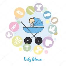 Baptism Card Invitation Baby Boy Baptism Invitation Card U2014 Stock Vector Sbego 48417917