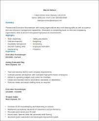 Private Housekeeper Resume Examples Of Housekeeping Resumes 12751650 The Best Objective For