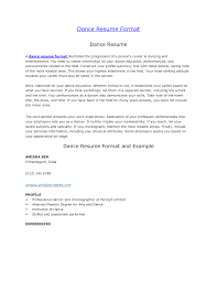 Cover Letters For Resumes Samples by Download Dance Resume Examples Haadyaooverbayresort Com