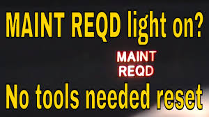 how to reset maint reqd light on toyota prius hybrid youtube