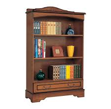 classic chocolate brown stained mahogany wood boocase with carved