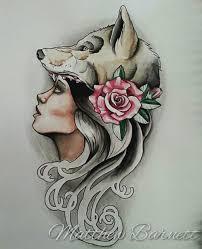 wolf tattoo behind ear 29 nice wolf girl tattoo designs