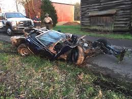corvette crash horrific crash with tree destroys this c3 corvette