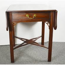 Henkel Harris Desk Henkel Harris Mahogany Drop Leaf Side Table Ebth