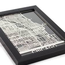 Chicago Map Wall Art by Chicago Cut Maps Touch Of Modern