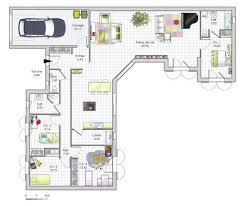 plan maison plain pied en l 4 chambres plan habillé maison maison de plain pied de quatre chambres