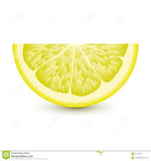 isolated half of circle juicy yellow color lemon with shadow on