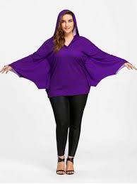 bat costume purple 5xl plus size note bat costume top