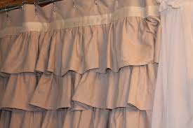 Black Ruffle Shower Curtain Bathroom Awesome Ruffle Shower Curtain For Decoration Bathroom