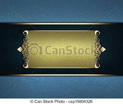 Gold Nameplate Clip Art Of Blue Background With A Gold Nameplate Design Template