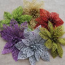 artificial flowers wholesale k15198 wholesale 15cm plastic simulation christmas glitter hollow
