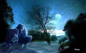 scary moon background werewolf wallpaper wallpapers browse