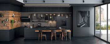 mobalpa cuisines cuisine moderne îlot type loft ambiance black mobalpa