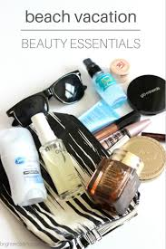 Beach vacation beauty essentials what 39 s in my travel makeup bag