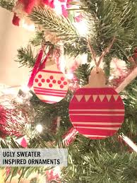 chrstimas sweater inspired ornaments c r a f t