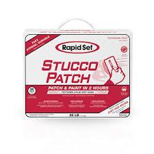rapid set 25 lb stucco patch 71020025 the home depot