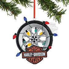 4045033 harley davidson tire with b s logo wrapped in lights