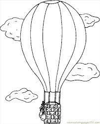 air balloon coloring page free seasons coloring pages