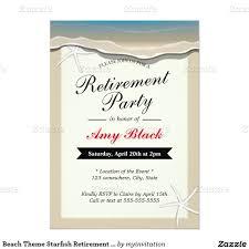 Retirement Invitation Card Beach Theme Starfish Retirement Party Invitation Retirement