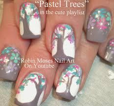 robin moses nail art rainbow watercolor tree nails fall nail art