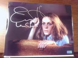 ot celebrity authentics signed halloween knife jamie lee curtis