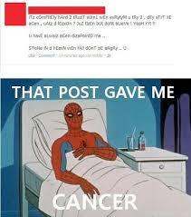 Spiderman Meme Cancer - spiderman meme cancer