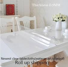 2015 Newest Clear Soft Glass Table Covers Thickness 0 3mm Tablecloth