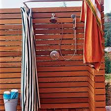 Outdoor Shower Curtains Striped Shower Curtain For Outdoor Shower Designs Ideas And