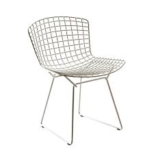 chaise bertoia knoll chaise bertoia structure chromée knoll harry bertoia and side chair