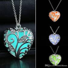 glow in the necklaces wholesale glow in the noctilucous locket sterling silver plated