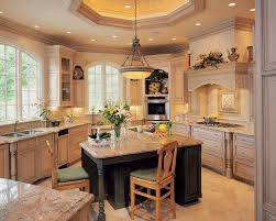 Small Kitchen Island With Seating by Classic Kitchen Area With Black Wooden Back Chair Seating Small