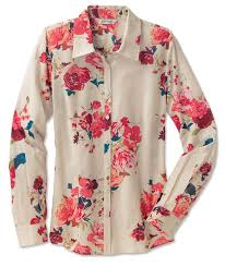 s button front shirt autumn roses button front shirt orvis