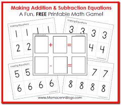 educational freebie printable addition u0026 subtraction equation